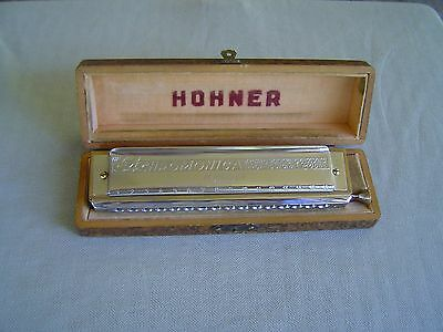 """""""the 64 Chromonica"""" Vintage Professional Model 280/64 """"c"""" By M. Hohner With Box"""