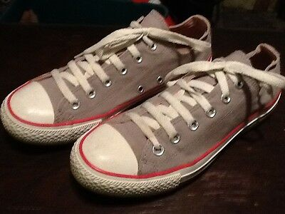 Womens Light Grey Converse All Stars Trainers Uk Size 6