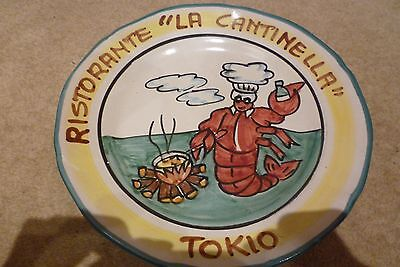 Italian restaurant painted plate from Tokyo