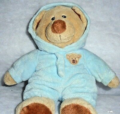 BABY BEAR BLUE MWNHT Ty Beanie Pluffie Collectible Stuffed Plush Toy + FREE Gift