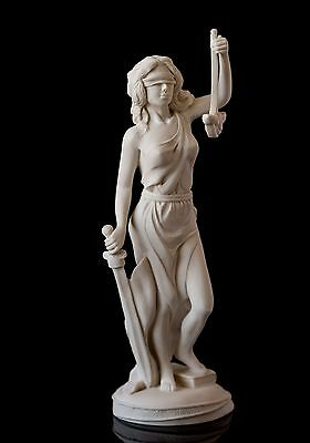 Marble Themis Scales of Justice Sculpture Greek goddess, Lawyer Statuette Gift