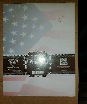 Geographics GeoPaper Flag Letterhead Stationary Printer Paper 25 Sheets (New)