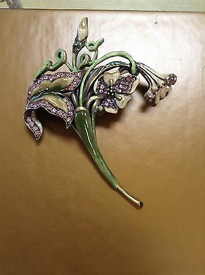 Jay Strongwater Bouquet Pin