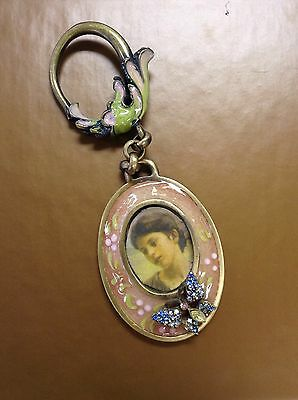 Jay Strongwater Butterfly Frame Keychain