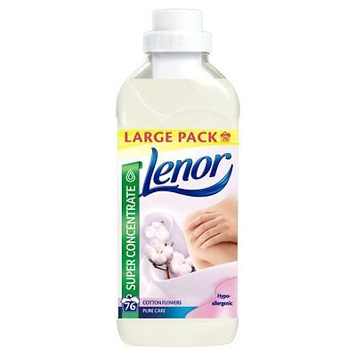 Lenor Cotton Flowers Fabric Conditioner 76 Wash 1.9L Large Pack  Concentrated