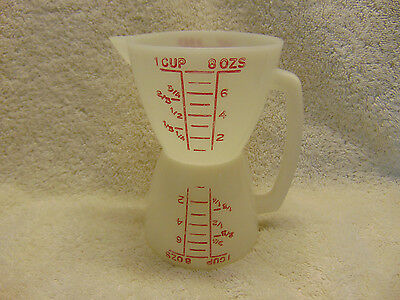 Vintage Tupperware Double Sided Dry/Liquid 1 Cup Measuring Cup