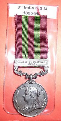 3rd India. general service medal. 1895--1898