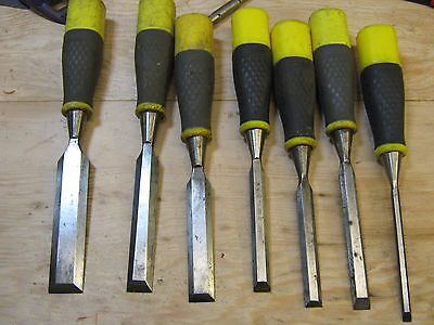 7 stanley bevel edged chisels