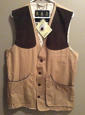 BARBOUR T881 Brewster Sporting Waistcoat Vest Mens Size M Hunting Fishing NWT