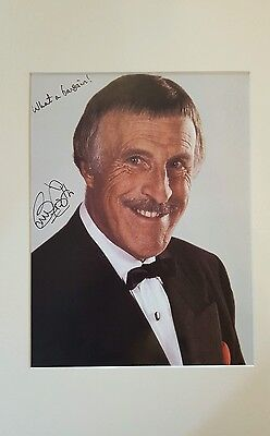 "Sir Bruce Forsyth hand signed 10""×8"" photo with authentication"
