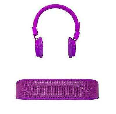 Vivitar Infinite S Wired Headphone and Bluetooth Speaker in Vibrant Purple
