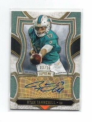 Ryan Tannehill 2015 Topps Supreme, Supreme Autographs, (Green), 3/10 !!