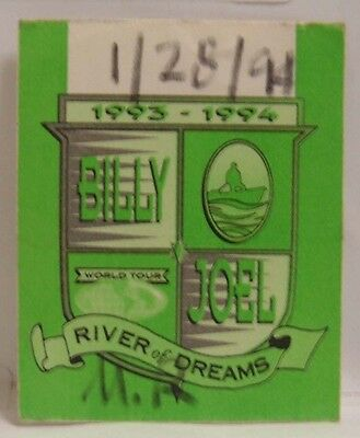 Billy Joel - Old Billy Joel Tour Concert Cloth Backstage Pass