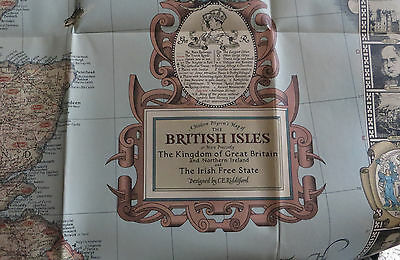 1937 National Geographic Map of the British Isles