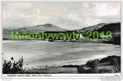 SKEABOST HOUSE HOTEL AND LOCH SNIZORT, ISLE OF SKYE, SCOTLAND Postcard