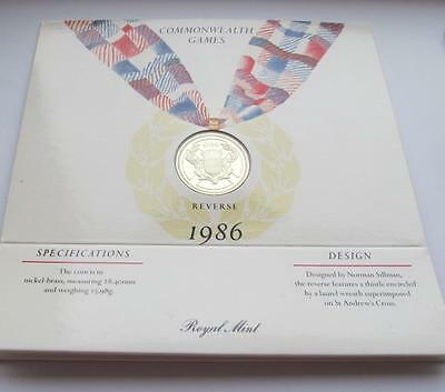 Royal Mint Brilliant Uncirculated 1986 Commonwealth Games £2 Coin