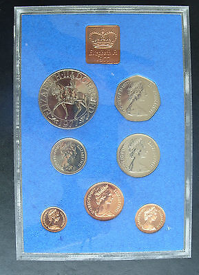 1977 Proof Set of Decimal coinage of Great Britain & Northern Ireland & folder