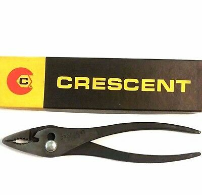 "925-8"" Crescent VINTAGE Heavy Slip Joint Pliers Original Box Rare NOS, USA Made"