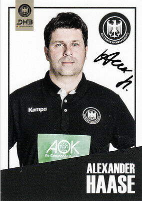 Alexander Haase, DHB Handball EM Nationalmannschaft original signiert/signed