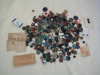 Large Collection of Vintage Buttons - 200+