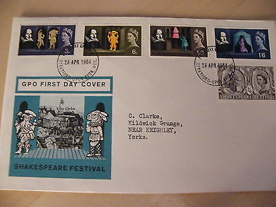 1964 - Shakespeare FDC