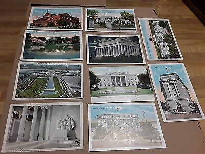 Antique Post Cards Washington, DC Lot of 10 in excellent condition