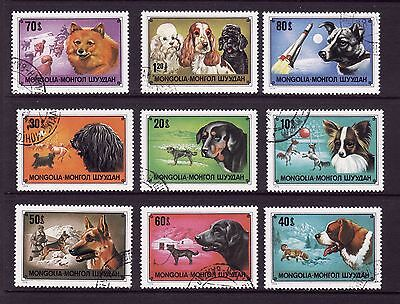 Mongolia    1978    Dogs     Set  9   Vals    Fine  Used