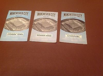 Manchester City Home Programmes