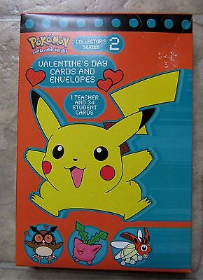 Pokemon vintage valentines day cards from year 2000, Pikachu, Nintendo, opened.