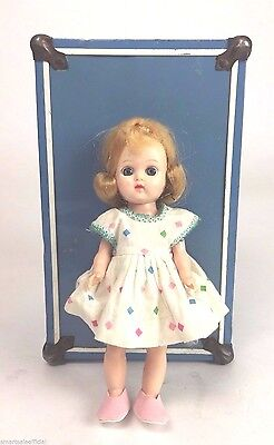 "Vintage Cosmopolitian Ginger Doll 8"" with Clothes and Trunk - 1950""s"