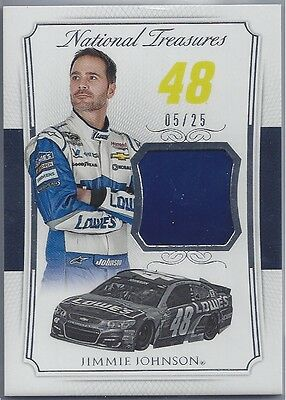 2016 Panini National Treasures NASCAR Fire suit Relic Jimmie Johnson #05/25