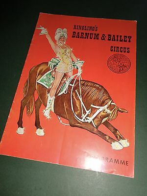 1963 FRANCE programme RINGLING BROS BARNUM & BAILEY CIRCUS cirque circo program