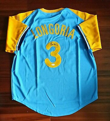 Evan Longoria Autographed Signed Jersey Tampa Bay Rays JSA