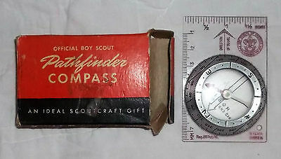 Official Boy Scout Pathfinder Compass in Original Box