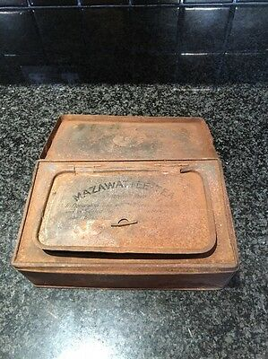 VINTAGE MAZAWATTEE TEA METAL TIN - 19 X 11 Cm - Very Rusty!!