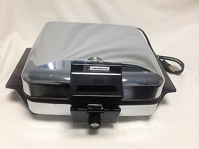 Vintage Toastmaster Chrome Waffle Iron/Grill 269 With Temperature Control