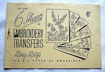 Antique/vintage 1940S Embroidery/motif Transfers Booklet 2Nd Series