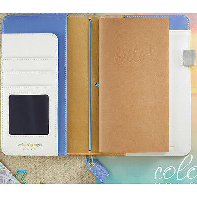 "Color Crush Faux Leather Travelers' Planner 5.75""X8""-Periwinkle"