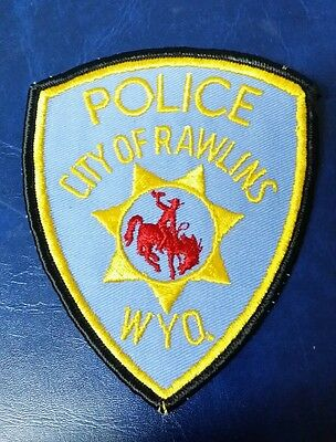 Rawlins, Wyoming Police Shoulder Patch Wy
