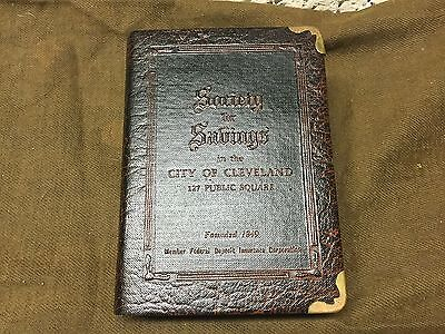 Vintage Book Bank, SOCIETY FOR SAVINGS, City of Cleveland, 127 Public Square