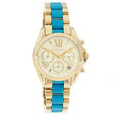 Michael Kors Mk5908 Gold Tone With Blue Watch