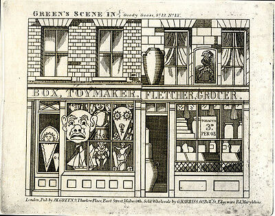 Original Toy Theatre Sheet - Green's Goody Goose Scene Plate 12 - Plain