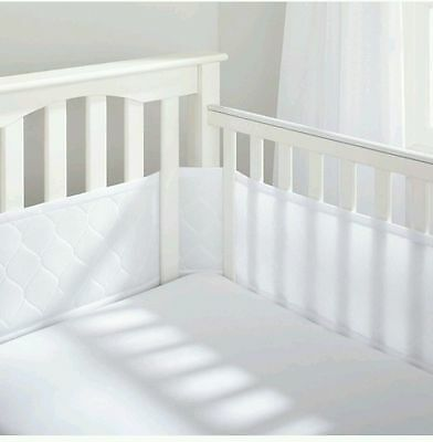 Breathable Baby Deluxe Embossed White Crib Liner
