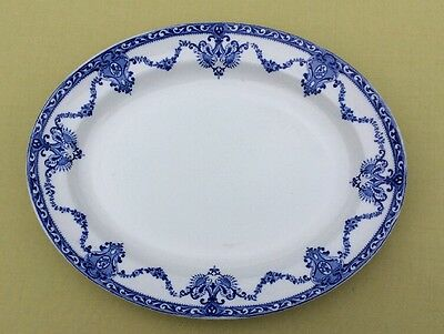 Oval Plate Blue & White Transfer Printed