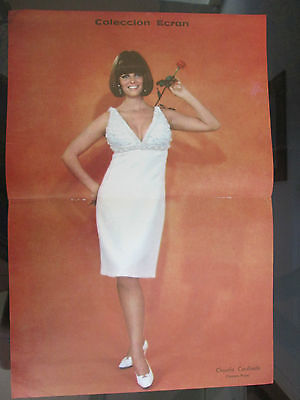 Claudia Cardinale Celebrity Poster 1967 From A Magazine In Spanish