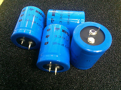 [4 pcs] .BC Components series 157 PUM-SI 330uF 400V  Snap-In 30x40