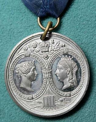 Victoria 1887 Golden Jubilee pewter  medal Guildford by Lewis