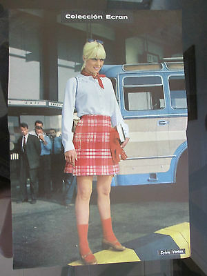 Sylvie Vartan Celebrity Poster 1968 From A Magazine In Spanish