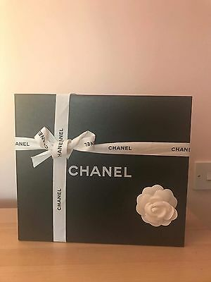 Autentich Chanel Gift Box  With Camellia Flower,Ribbon,paper