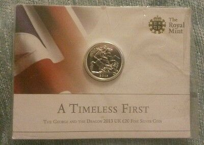 The Royal Mint*a Timeless First*2013 Uk £20 Fine Silver Coin
